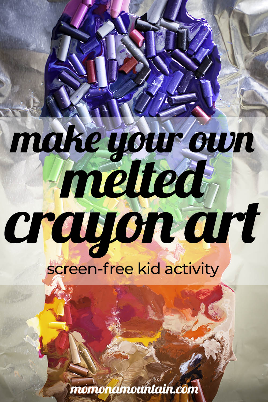 Amazing Melted Crayon Art